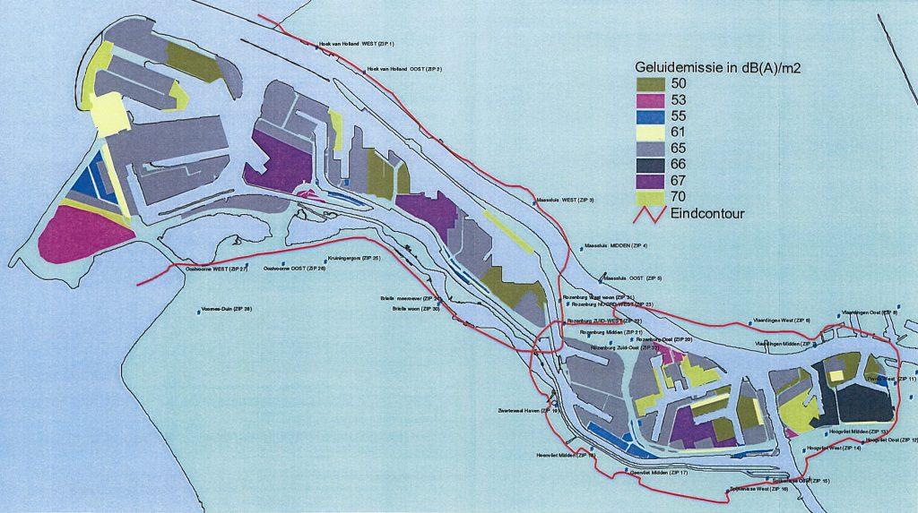 Geluidkentallen Beleidsregel zonebeheerplan industrielawaai Rijnmond-West